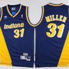 Men's Indiana Peacers #31 Reggie Miller Basketball Jersey Navy Blue Throwback