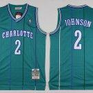 Men's Charlotte Hornets 2# Larry Johnson Green Basketball Jersey