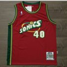 Mens Supersonics #40 Shawn Kemp Basketball Jersey Red