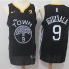 Men's Golden State Warriors #9 Andre Iguodala Basketball Jersey Black