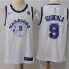 Men's Golden State Warriors #9 Andre Iguodala Basketball Jersey White sleeve