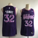 Men's Timberwolves #32 Karl-Anthony Towns Jersey Purple City Edition 2019