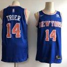 Men's Knicks #14 Allonzo Trier Basketball Jersey Blue Customized