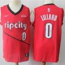 Men's Portland Trail Blazers #0 Damian Lillard Jersey Red Earned Edition 2019