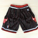 Mens Chicago Bulls Nike Icon Swingman Basketball Shorts Black Stripe
