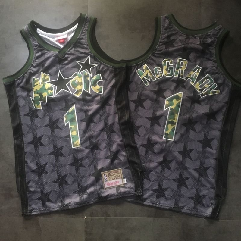 Men's Magic #1 Tracy McGrday Jersey Gray Fine Embroidery camouflage