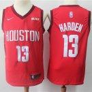 Men's Houston Rockets 13 James Harden Basketball Jersey Red Earned Edition