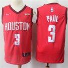 Men's Houston Rockets #3 Chris Paul Basketball Jersey Red Earned Edition