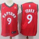 Mens Toronto Raptors #9 Serge Ibaka Basketball Jersey Red 2019