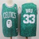 Men's BAPE Joint Celtics #33 Larry Bird Basketball Jersey Green 2019