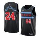 Mens Lauri Markkanen #24 Chicago Bulls City Edition  Black Jersey