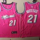 Men's Miami Heat #21 Hassan Whiteside Basketball Jersey Pink New