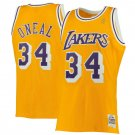 Mens Shaquille O'Neal #34 Los Angeles Lakers  Throwback  Jersey  Yellow New