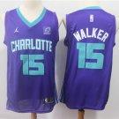 Mens Kemba Walker  #15Charlotte Hornets Jersey Purple Stripe Throwback