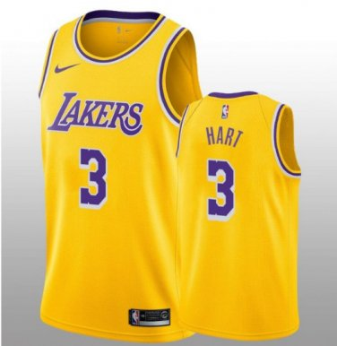 newest f594a f72a5 2019 Los Angeles Lakers 3# Josh Hart Swingman Gold Men's ...
