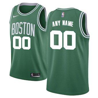 Boston Celtics Nike Swingman Custom Jersey Green - Icon Edition