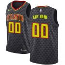 Atlanta Hawks Nike Swingman Custom Jersey Black - Icon Edition