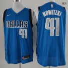Men's Dallas Mavericks 41 Dirk Nowitzki Basketball Jersey Blue