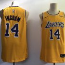 Men's Lakers #14 Brandon Ingram Basketball Jersey Yellow 2019