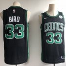 Men's Boston Celtics #33 Larry Bird Basketball Jersey Black NEW