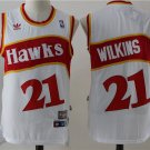 Atlanta Hawks #21 Dominique Wilkins White Basketball Jersey