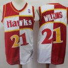 Mens Atlanta Hawks #21 Dominique Wilkins White-Red Basketball Jersey New