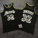 Men's Los Angeles Lakers 32# Magic Johnson Basketball Jersey Black camouflage Fine Embroidery