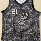 Men's San Antonio Spurs #21 Tim Duncan Basketball Jersey camouflage Black