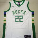 Mens Milwaukee Bucks #22 Khris Middleton White Jersey 2019