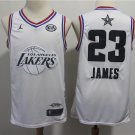 2019 Men's ALL STAR GAME Lakers 23# LeBron James Jersey White New