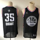Men's All-Star Game Warriors #35 Kevin Durant Jersey Black 2019