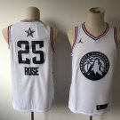 Men's All-Star Game Timberwolves #25 Derrick Rose Jersey White 2019
