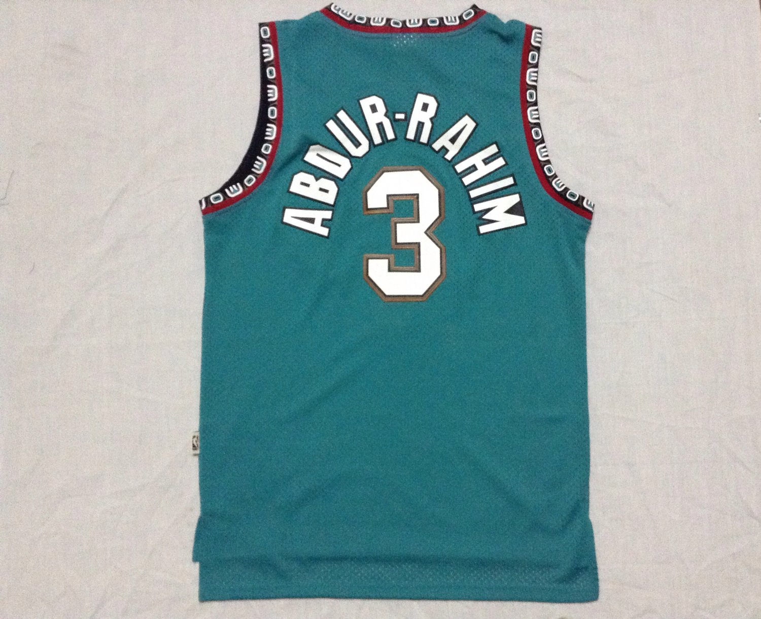 Men's Vancouver Grizzlies 3 Shareef Abdur-Rahim Green Basketball Throwback Jersey