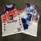 Mens 76ers #3 Allen Iverson Memorial Fund NBA All-Star Game Jersey Fine Embroidery 2003