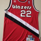 Men's Blazers 22# Clyde Drexler Basketball Jersey Red Throwback