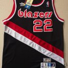 Men's Blazers 22# Clyde Drexler Basketball Jersey Black Throwback