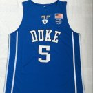 Men's Duke Blue Devils 5# Rowan Barrett Jr Basketball Jersey Blue New