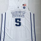 Men's Duke Blue Devils 5# Rowan Barrett Jr Basketball Jersey White New