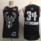 Men's Bucks 34# Giannis Antetokounmpo 2019 NBA All-Star Game Jersey Black