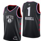 Men's Brooklyn Nets 1# D'Angelo Russell 2019 All-Star Game Jersey Black