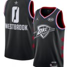 Men's OKC Thunder #0 Russell Westbrook 2019 All-Star Game Jersey Black