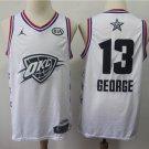Men's Oklahoma City Thunder 13# Paul George 2019 All-Star Game Jersey White