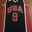 Men's USA Team 9# Michael Jordan Basketball Jersey Black Fine Embroidery 1984