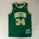 Men's Boston Celtics #34 Paul Pierce Stitched Jersey Green Gold