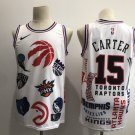 Men's Toronto Raptors #15 Vince Carter Basketball Jointly Jersey White