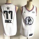Men's Dallas Mavericks #77 Luka Doncic 2019 All-Star Game Jersey White