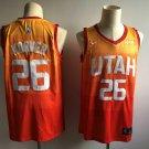 Men's Utah Jazz 26 Kyle Korver Basketball Jersey Orange