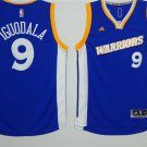 Men's Warriors #9 Andre Iguodala Basketball Jersey Blue 2017