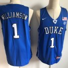 Men's Duke Blue Devils #1 Zion Williamson Basketball Jersey Royal Blue