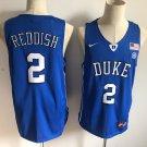 Men's Duke Blue Devils 2# Cam Reddish Royal Blue Basketball Jersey NCAA